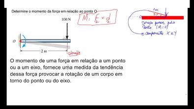 AULA 26 - Momento de uma força ou torque - estática - mecânica geral