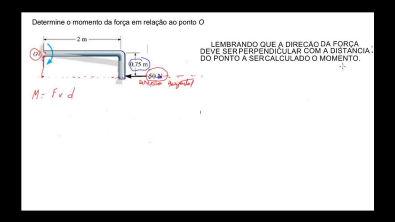AULA 27 - Momento de uma força ou torque - Estática - mecânica geral