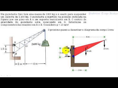 AULA 43 - CALCULO DE REAÇÕES DE APOIO - ESTÁTICA