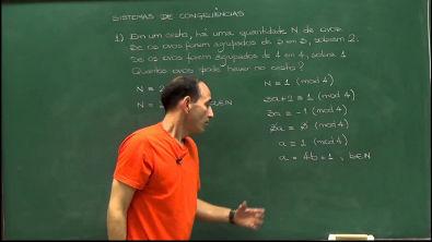 Aritmética - Aula 57 - Sistema de congruências 1
