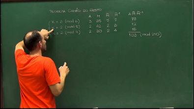 Aritmética - Aula 62 - Uma observação no algoritmo chinês do resto