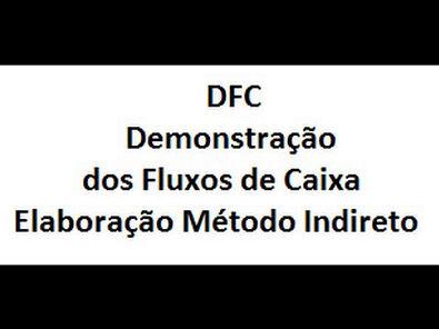 Elaboração pelo método Indireto - DFC / Cash Flow Statement Elaboration