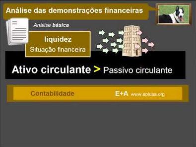 Análise das demonstrações financeiras CONTABILIDADE 11.1.1