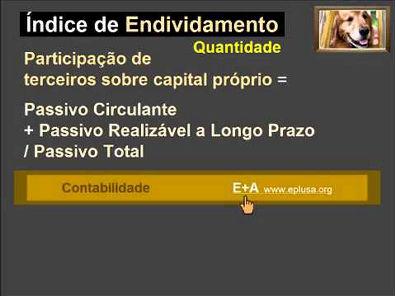 Índices ou quocientes CONTABILIDADE 11.1.3