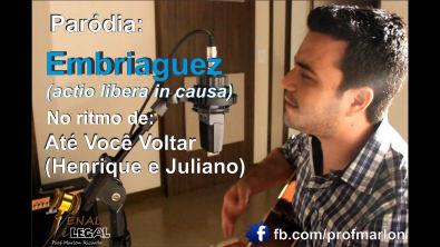 """Embriaguez no ritmo de """"Até Você Voltar"""" (Henrique e Juliano) - Marlon Ricardo"""