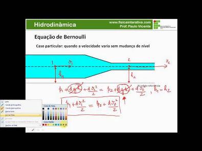 Hidrodinâmica - Equação de Bernoulli