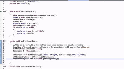 Making Snake in Java: Part 7 - Fixing Double Buffering