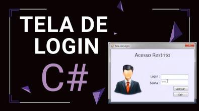 Creating Login Screen in C# (Criando Tela Login no C#)