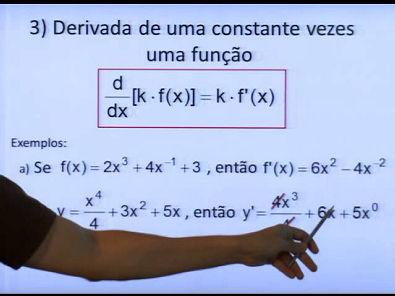 Reforço Cálculo I - REGRAS DE DERIVAÇÃO