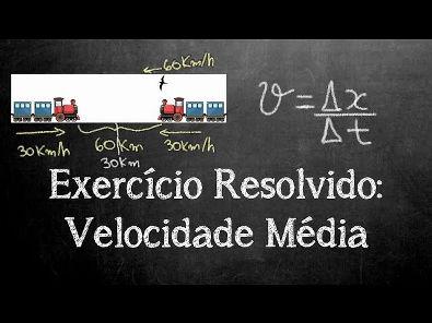 Exercício Resolvido: Velocidade Média