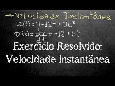 Exercício Resolvido: Velocidade Instantânea (derivada da posição)