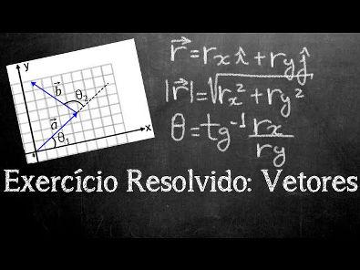 Exercício Resolvido - Vetores (Módulo, vetores unitários e inclinação)