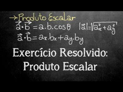 Exercício Resolvido - Produto Escalar através do módulo, ângulo e das componentes vetoriais