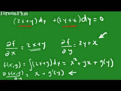 Ecuacion Diferencial exacta parte 1