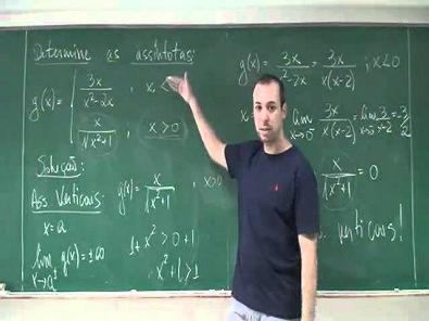 Assíntotas de uma função definida por mais de uma sentença