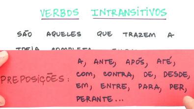 Verbos intransitivos e complementos nominais - Teoria