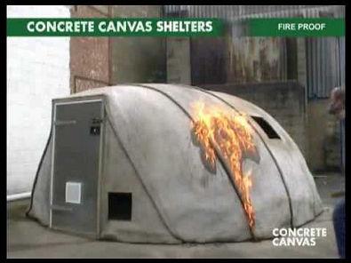 Concrete Canvas Shelters '09