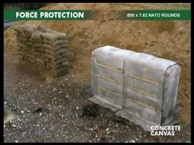 Concrete Cloth Military Applications