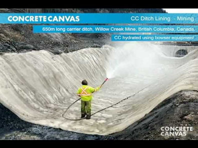 CC Ditch Lining - Willow Creek Mine, Canada.