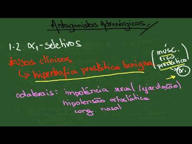 Antagonistas Adrenérgicos (simpatolíticos) - Resumo - Farmacologia