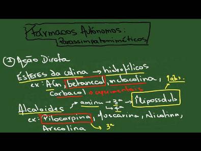 Fármacos Parassimpatomiméticos - Resumo - Farmacologia