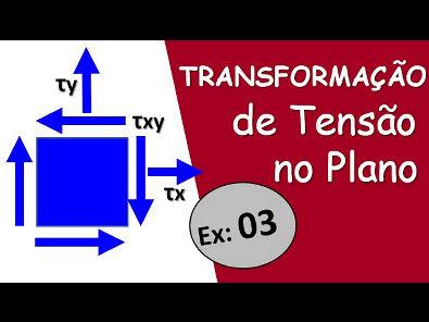 Transformação no estado plano de tensões -Ex 03- Naor Sales