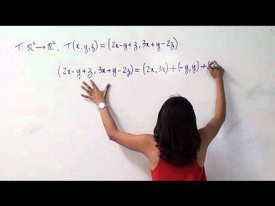 Álgebra Linear: núcleo e imagem de uma transformaçao linear (parte 2 de 2)