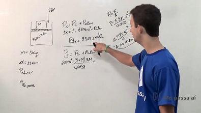 Cilindro com peso no pistão sobre a pressão no sistema - Teoria