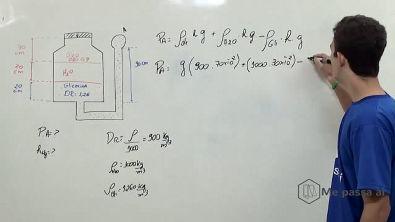 Cálculo de pressão manométrica através de densidade relativa - Teoria