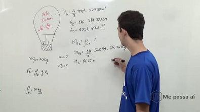 Determine a aceleração do balão quando ele for liberado - Teoria
