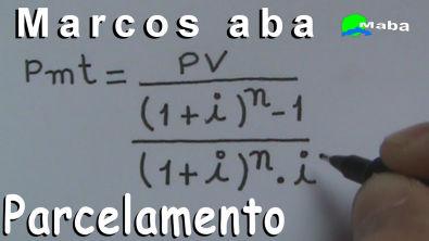 PARCELAMENTO (valor das prestações)  -   Matemática Financeira