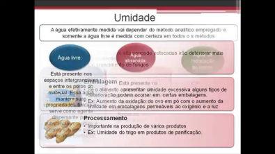 Aula bromatologia: Determinação de Umidade em alimentos
