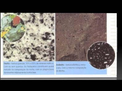 Identificação e classificação de rochas magmáticas