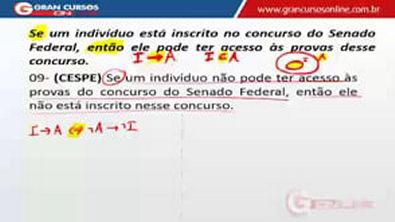 AULA 18  Equivalências Lógicas   EXERCÍCIOS II