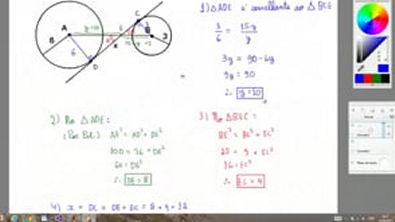 Exercício - Teorema de Tales e Semelhança de Triângulos - Observe a figura abaixo Considerando AB 15, o valor de x