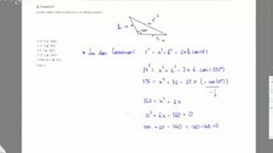 Exercício - Teorema de Tales e Semelhança de Triângulos - Quanto mede o lado indicado por no triângulo abaixo