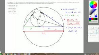 Exercício - Teorema de Tales e Semelhança de Triângulos - (ITA - 80) Consideremos um triângulo retângulo que simultaneamente