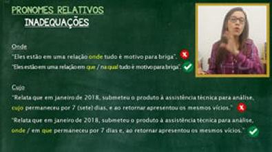 Português com Letícia - PRONOMES RELATIVOS
