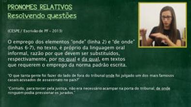 PRONOMES RELATIVOS (Exercícios) || Português com Letícia