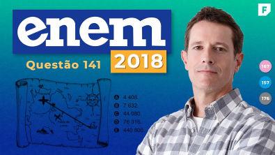 Matemática ENEM 2018: Escalas Métricas Mapa (QUESTÃO RESOLVIDA)