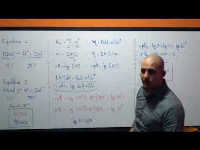 ITA (2019) Um dado indicador ácido-base tem constante de dissociação ácida igual a