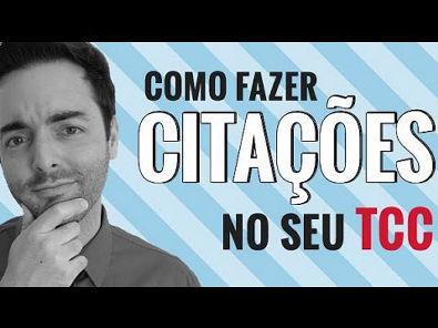 COMO FAZER CITAÇÕES NO SEU TCC