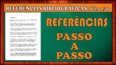 REFERÊNCIAS BIBLIOGRÁFICAS ABNT - Vídeo 01/16