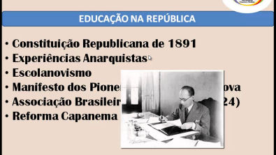 RESUMÃO DE HISTÓRIA DA EDUCAÇÃO BRASILEIRA