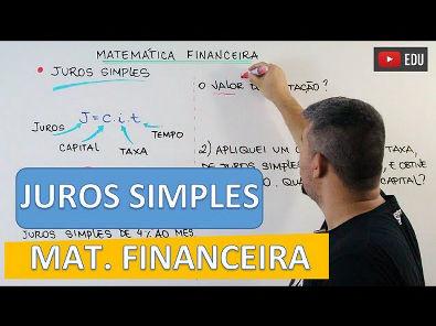 Juros Simples - Matemática Financeira #2