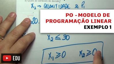 PO - modelo de programação linear - exemplo 1