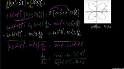 Diferenciação implícita (exemplo avançado) (2)