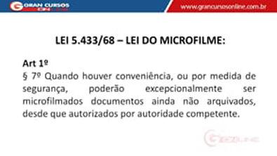14 - Arquivamento e Ordenação de Documentos - Microfilmagem de Documentos II