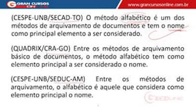 12 - Arquivamento e Ordenação de Documentos - Método Alfabético