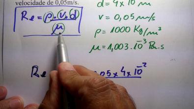 Número de Reynolds com viscosidade Dinâmica